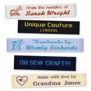 Personalised Woven Labels for Crafts