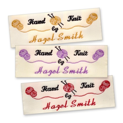 Woven Labels for Knitting