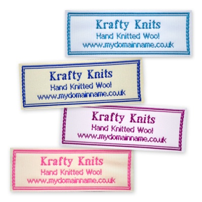 Personalised Woven Labels with border