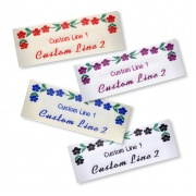 Woven Craft Labels with Flower design