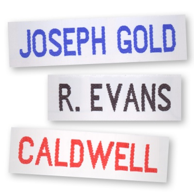 Woven ID Name Tags - 25mm