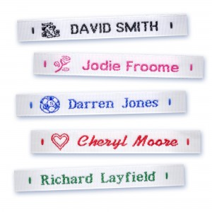 Woven Name Tapes - Sew In