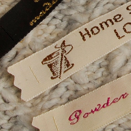 personalised woven labels to sew in handmade items gb